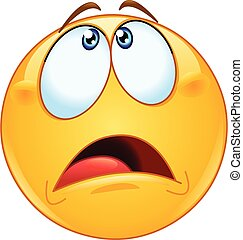 looking up overwhelmed emoticon - Overwhelmed or scared ...
