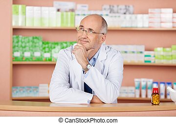 Looking up pharmacist