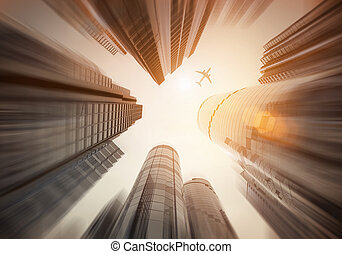 Looking Up - Urban City landscape