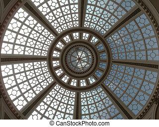 Looking upward at the Old Emporium dome - Looking upward at...