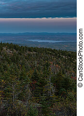 Looking West from Cadillac Mountain over Bar Harbor