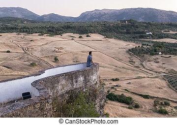Lookout in Ronda town, Malaga, Spain