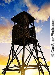Lookout tower for hunting. - Lookout tower for hunting at...