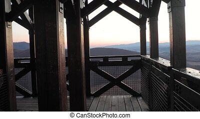 Lookout tower in the mountains