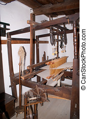 Loom in Roznov wooden village
