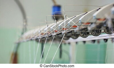Loom works - view of thread
