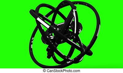 Circle Abstract On Green Chroma Key