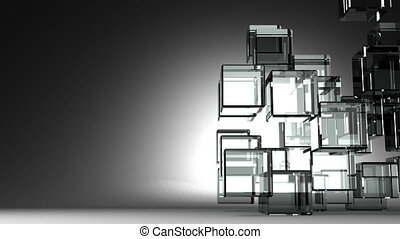 Glass Cubes Abstract