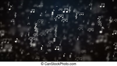 Loop abstract music icons motion background