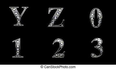 loop alpha matted diamonds alphabet set
