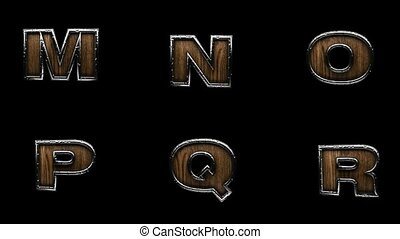 loop alpha matted metal alphabet