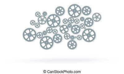 loop animated gears animation