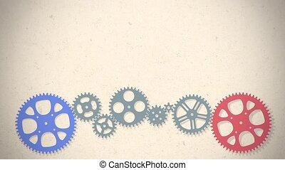 loop animated gears animation