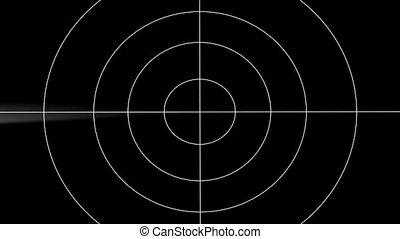 radar - Loop animation of the radar and flying object -...
