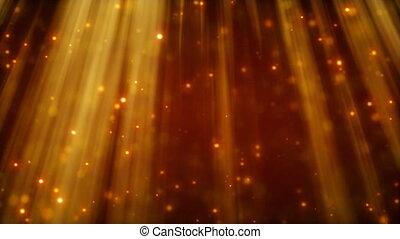 loop background flying golden dust