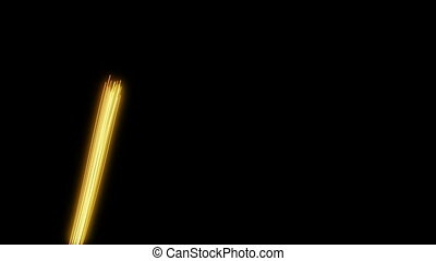 loop background yellow light streak