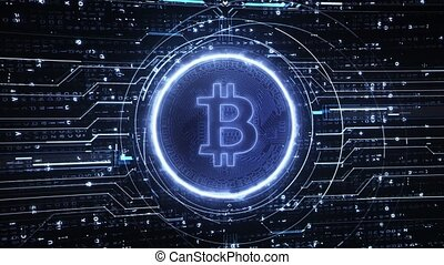 Loop Bitcoin Hi-Tech Backgrounds - Loop bitcoin Hi-Tech...