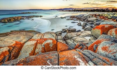 Bay of Fires - Loop cinemagraph background of Bay of Fires...