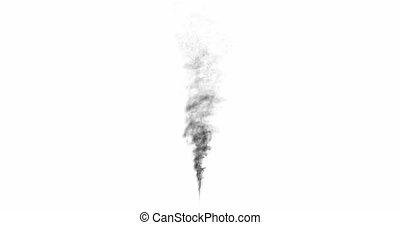 Loop cloud of smoke on white