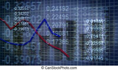 loop economic background - loopable economic background...