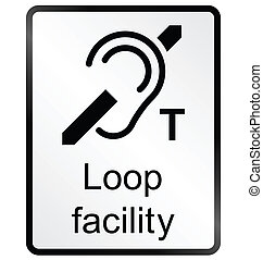 Loop Facility Information Sign - Monochrome Loop facility...