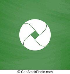 Loop flat icon