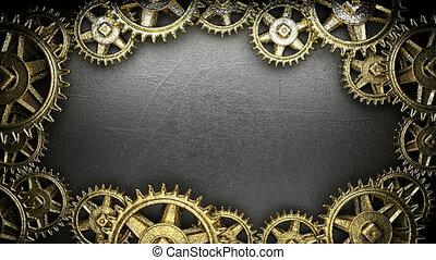 loop gear-weels on background