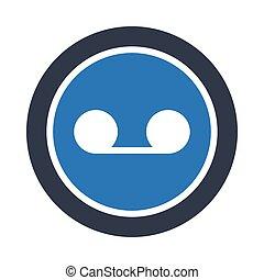 loop glyph color vector icon