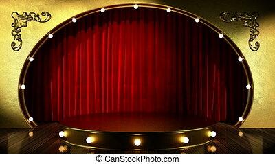 Loop light on golden stage