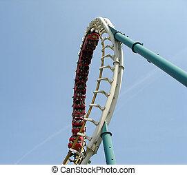 roller coaster - Loop of the roller coaster
