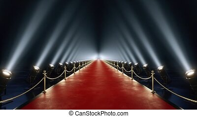 Loop red carpet animation 4k