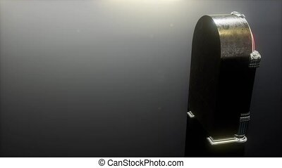 loop retro jukebox in the dark