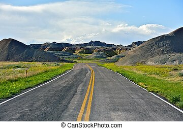 Loop Road - Badlands National Park, USA. Summer in the Badlands.