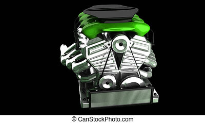 loop rotate car engine