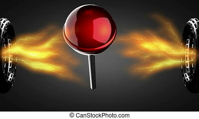 loop rotate red lollipop