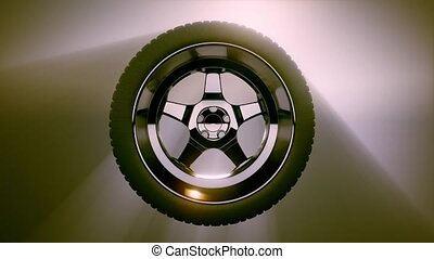 Loop Rotate Wheel on colored background - loop rotate wheel...
