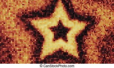 loop star shape on digital screen - computer generated...