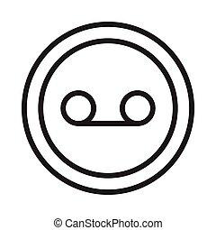 loop thin line vector icon