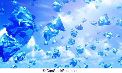 (loop), tomber, ciel, diamants