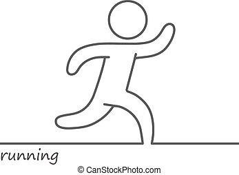 Loop vector running man