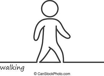 Loop vector walking man