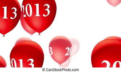 (loop), weißes, luftballone, rotes , 2013