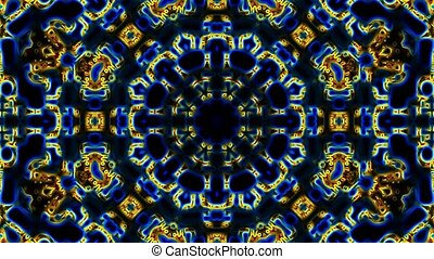 Loopable abstract background with carpet motif