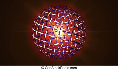 loopable animation of rotating cell sphere