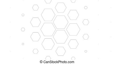 Loopable background from mesh with hexagons. Can be used as...