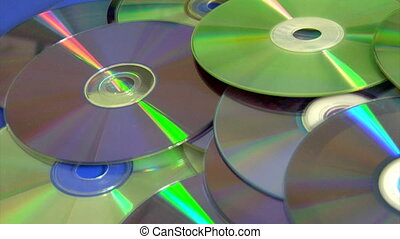 compact discs - loopable background of many compact discs