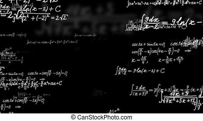 Loopable background with math formulas.