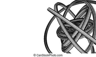Black Wire Frame Circle Abstract