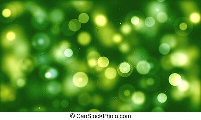 loopable, bokeh, arrière-plan vert, hd, gentil