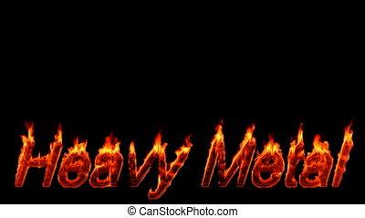Loopable burning Heavy Metal